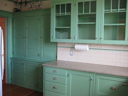 kitchen in seafoam green  My home  Pinterest