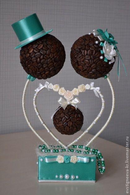 Топиарий своими руками из кофе на свадьбу
