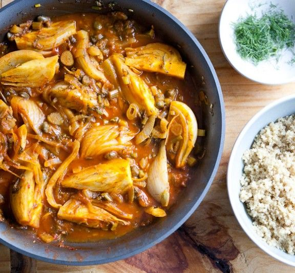Braised Fennel Wedges with Saffron and Tomato FROM Vegetable Literacy ...
