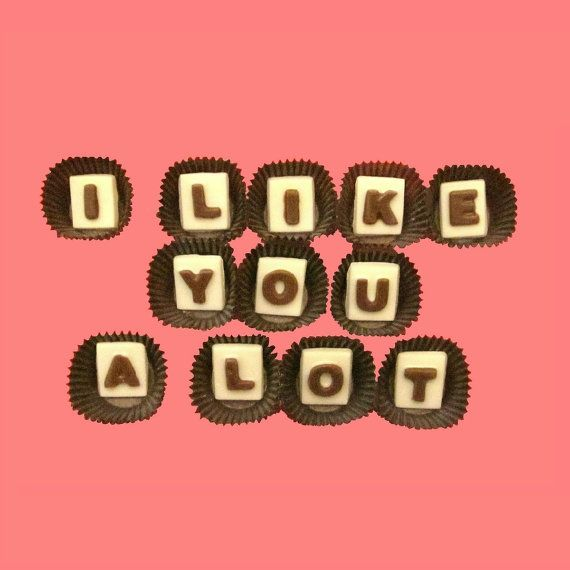 Like You A Lot Marble Chocolate Letters by chocolatesays on Etsy       I Like You A Lot