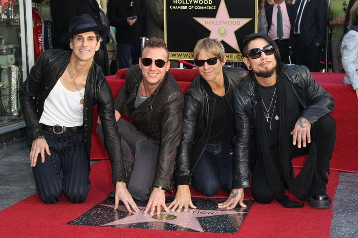 """Truly an """"Irresistible Force."""" Jane's Addiction's Perry Farrell, Stephen Perkins, Chris Chaney, and Dave Navarro receive a star on the Hollywood Walk of Fame on Oct. 30 in Hollywood, Calif."""