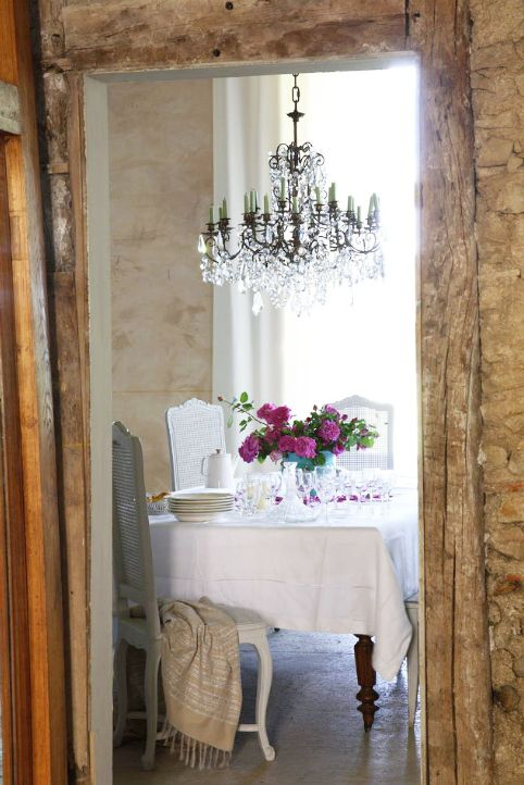 french country dining room cane back dining chairs crystal chandelier