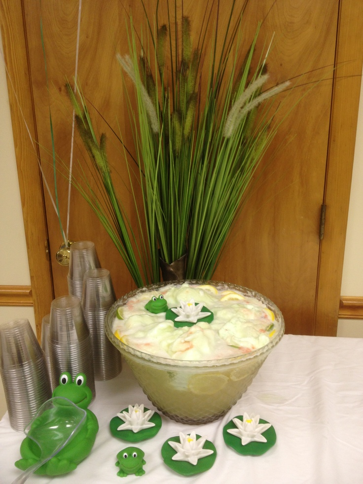 lime sherbet punch i made for a frog theme baby shower
