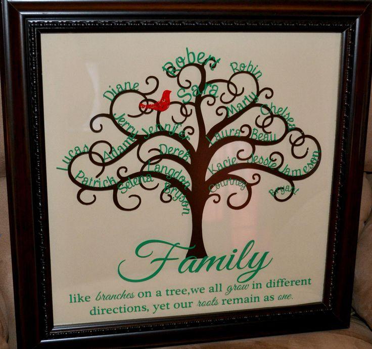 Family Tree Silhouette Ideas Pinterest