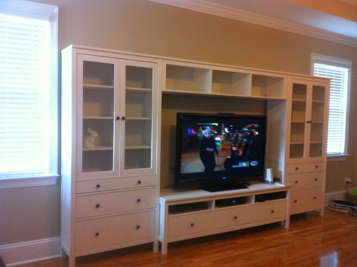 Ikea Godmorgon High Gloss Grey ~ entertainment center
