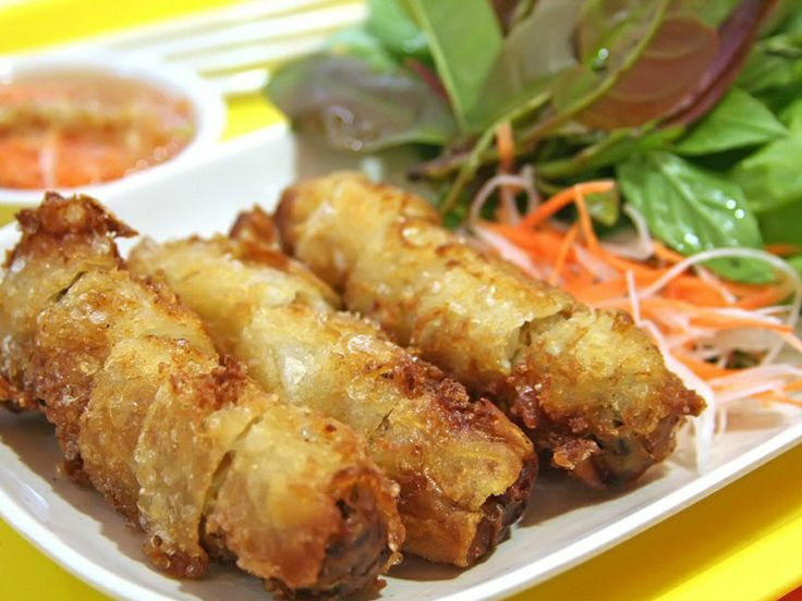 fried spring roll | Spring rolls & Sushi | Pinterest