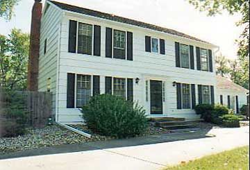 Before after exteriors and home additions colonial homes for Colonial home additions