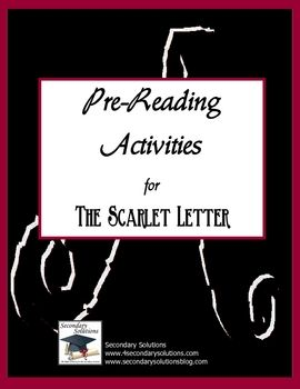 ... literary elements and themes of The Scarlet Letter before reading. $4