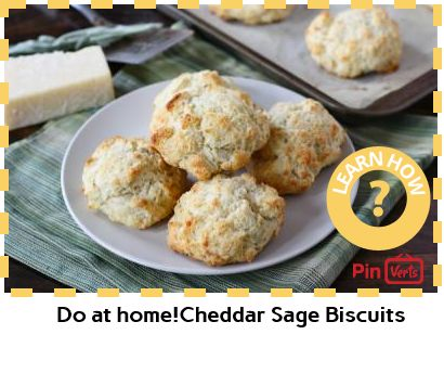 Cheddar Sage Biscuits... 1. Preheat the oven to 450 degrees F. Line a ...