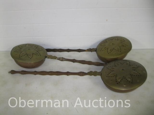 Antique style copper bed warmers colonial living and primitives amp c