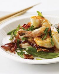... Stir-Fried Shrimp with Bacon, Mint and Chiles Recipe from Food & Wine