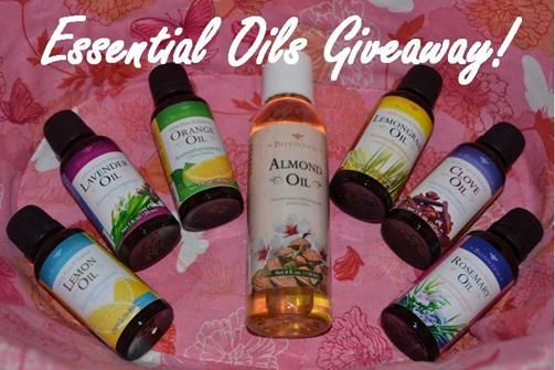 We're giving away three Beeyoutiful essential oils!  Would you like to try almond, clove, lavender, lemon, lemongrass, orange, or rosemary?  Choose three!!!  Click to enter!  (Contest ends Monday, April 28.)
