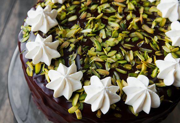 Chocolate Cassata Cake | Pistachios | Pinterest
