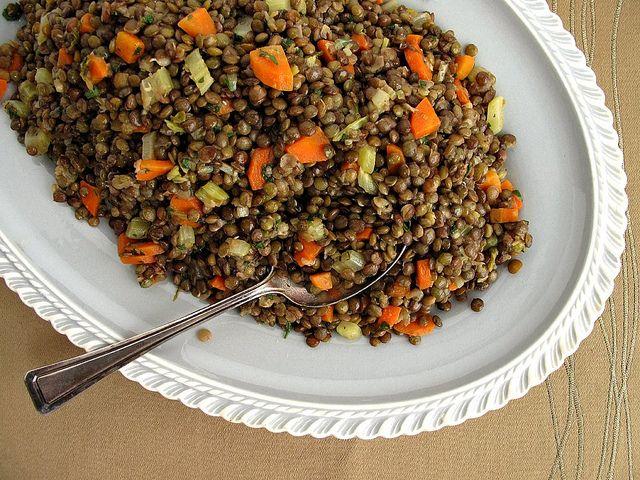 warm lentil salad | Veggies, Salads, Grains, etc. | Pinterest