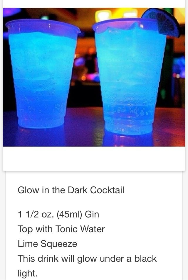 Glow In The Dark Mixed Drinks