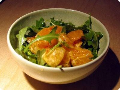 Arugula Orange Salad with Basil Vinaigrette: Day 40 - So refreshing.