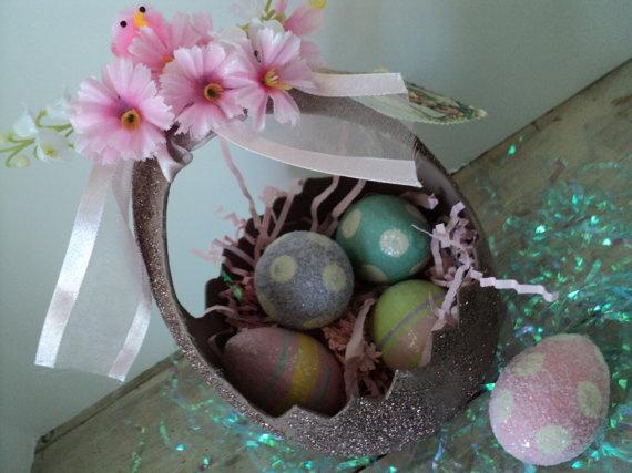 Easter egg basket spring has sprung pinterest