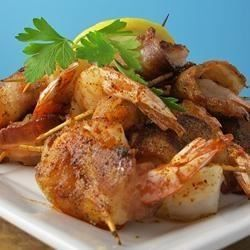 Bacon Wrapped Barbeque Shrimp | fish | Pinterest