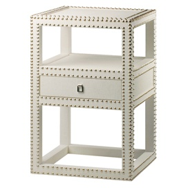 Marco nailhead side table in white products i love pinterest