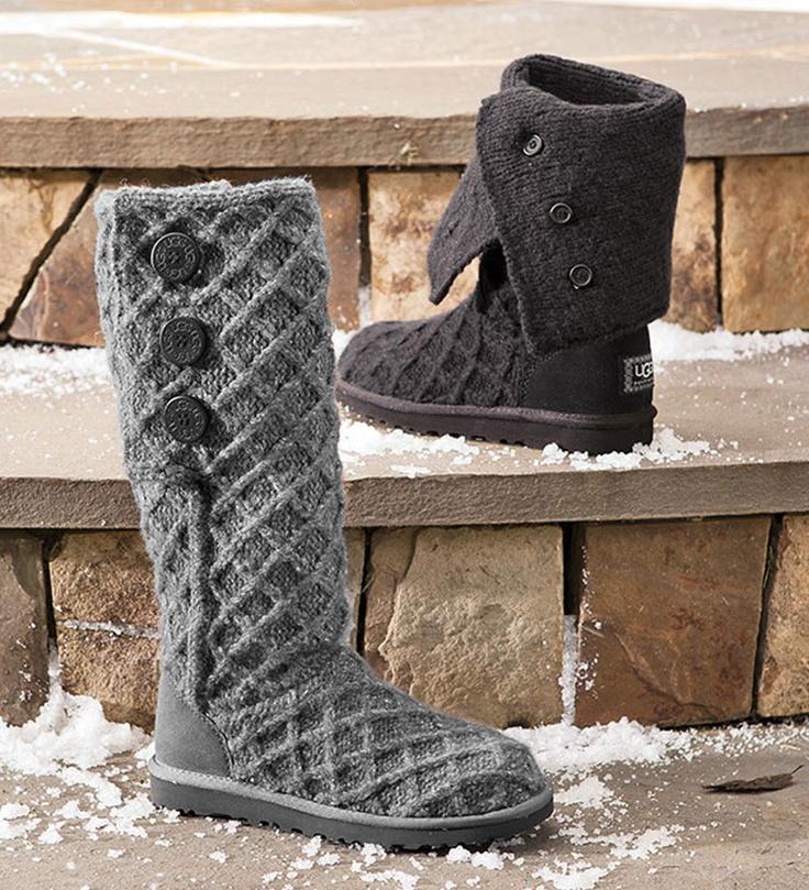 Warm fuzzy boots.