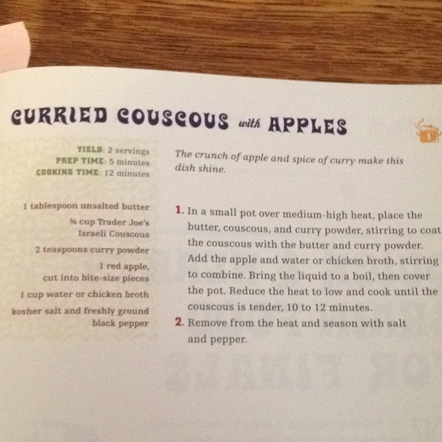 Curried Couscous with Apples. So yummy and easy to make! From the ...