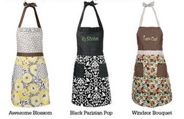 thirty one apron - they make the cutest bridal shower gifts by putting the brides new last name on it! :)