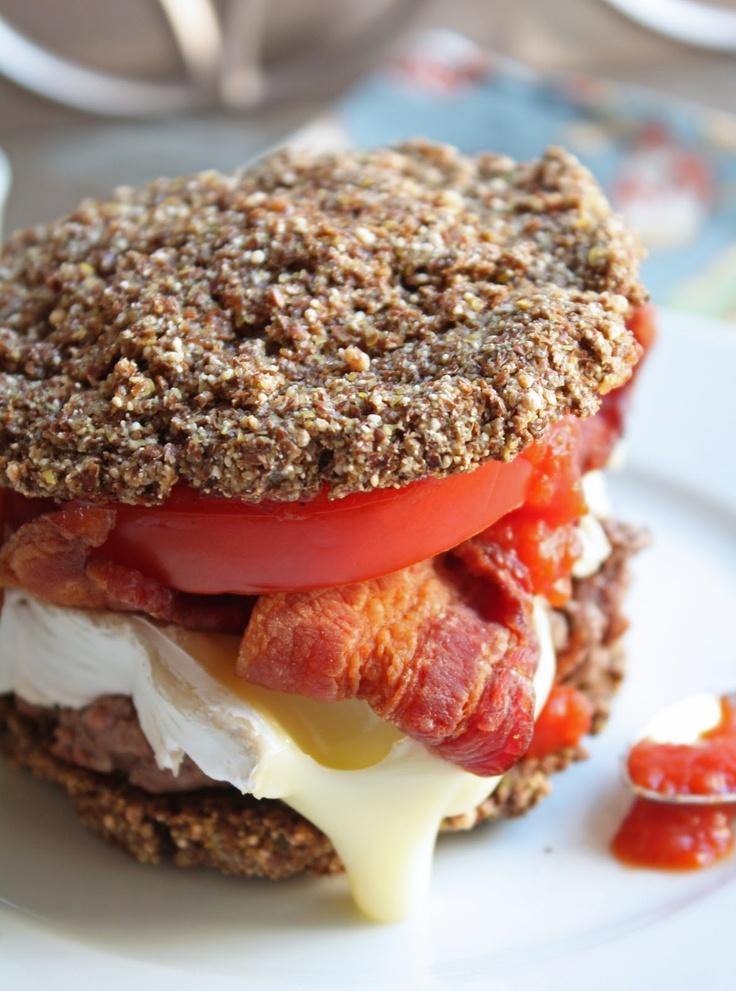 Low Carb Flax & Parmesan Burger Buns | Healthy Eating | Pinterest