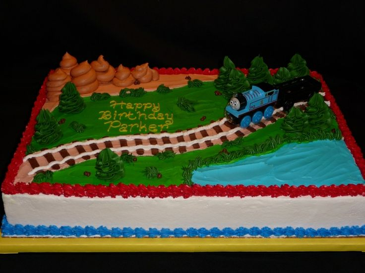 thomas the tank engine sheet cake spenc birthday ideas