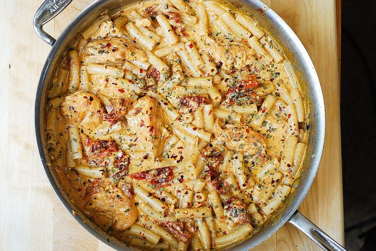 Chicken Mozzarella Pasta with Sun-Dried Tomatoes: This recipe would be ...
