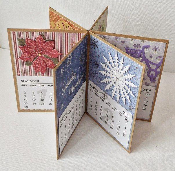 Handmade Calendar With Photos : Handmade calendar beautiful paper creations pinterest