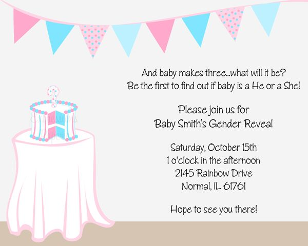 gender reveal baby shower invitations party ideas pinterest