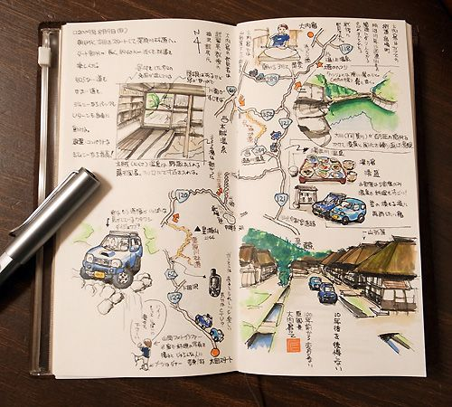 Japanese Travel Journal #art #drawing #scrapbook