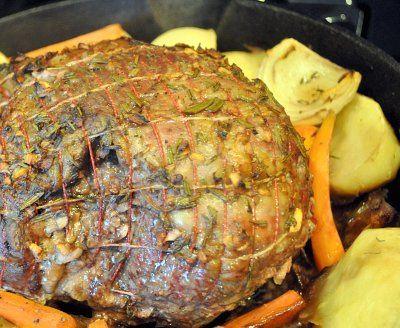 Boneless Leg of Lamb Roast - It's what's for New Year's dinner.