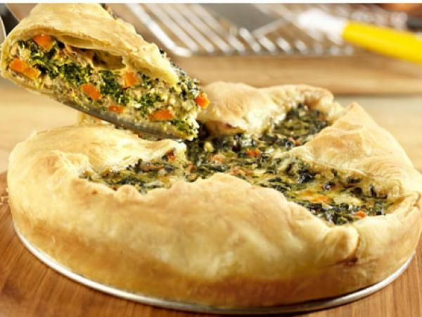Rustic Spinach Pie | KitchenDaily.com
