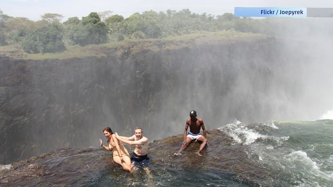 Devil 39 S Swimming Pool Victoria Falls Forces Of Nature Pinterest