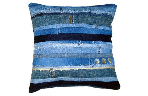 Cushion cover from Denim scraps