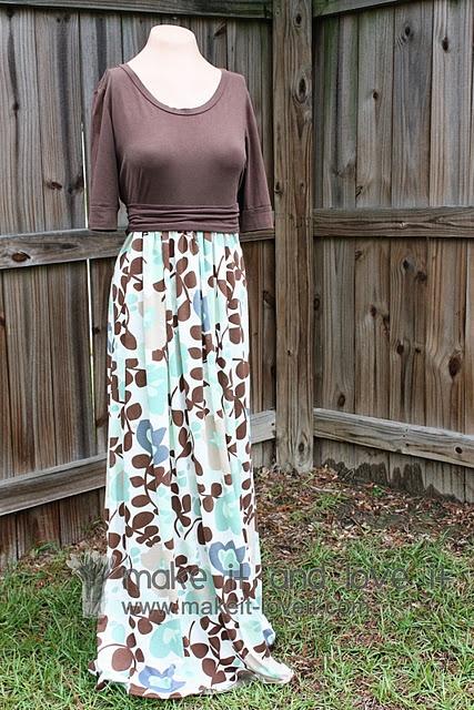 T shirt to maxi empire waist dress diy favorite crafts for Empire waist t shirt dress