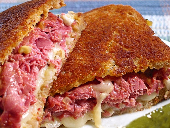 Classic Reuben -- rye bread, butter for grilling, Russian Dressing ...
