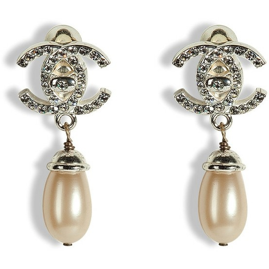 the gallery for gt chanel pearl earrings