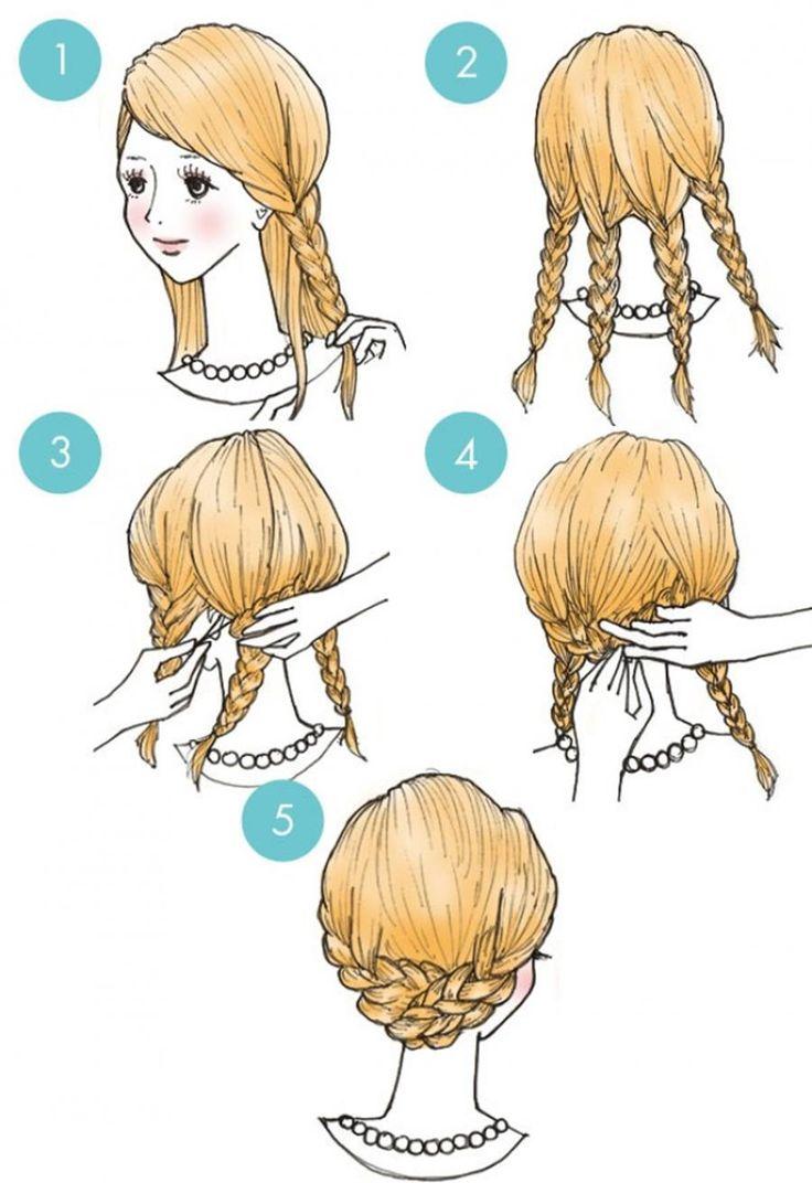 Прически для девочек с короткими волосами пошагово в