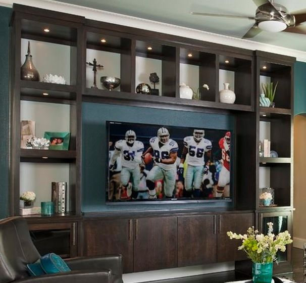 Big wall to wall design Contemporary Wall Units and Home