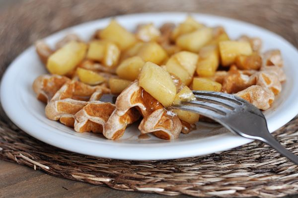 Apple Cinnamon Waffles ... but if I don't try the waffles, I at least ...