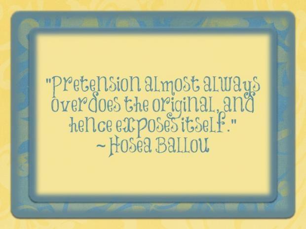 Pretension   Quotes