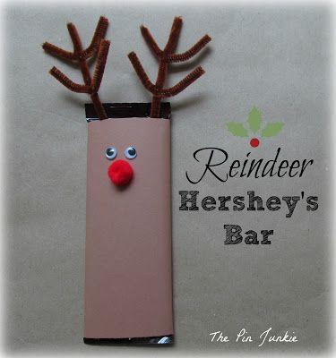 Christmas reindeer Hershey bar | Gifts to Create | Pinterest