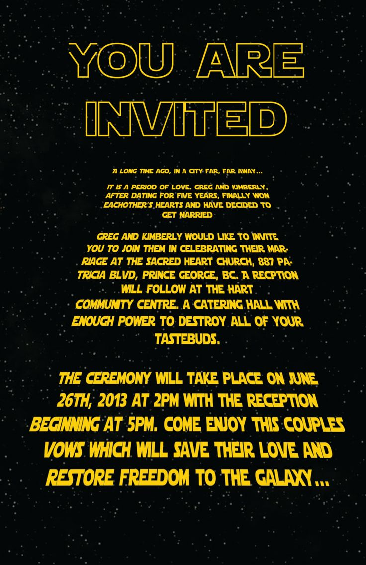 Star Wars Inspired Invitation (Customizable)