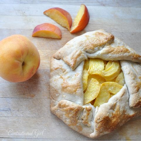 peach galette by kate at Centsational Girl