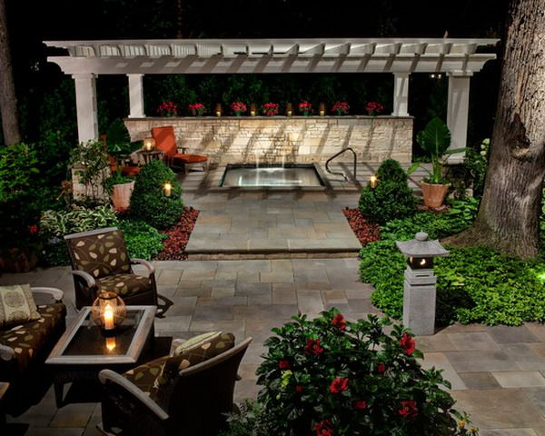 Beautiful Backyard Patios : Beautiful Patio Backyard with Spa Ideas  Bloom where you are planted