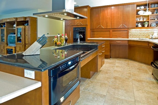 Accessible kitchen handicap accessible pinterest for Wheelchair accessible kitchen cabinets