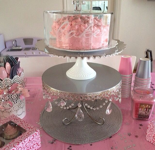 pink and silver baby shower