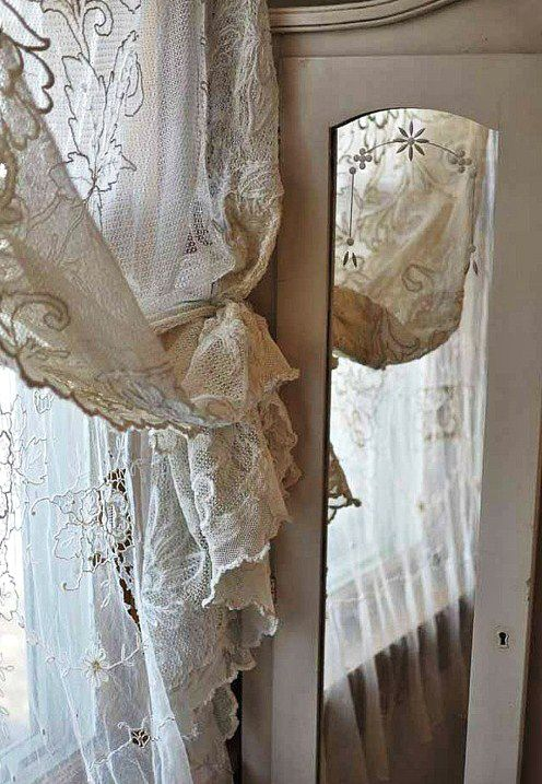 Shabby chic curtains pinterest - Shabby chic bedroom curtains ...